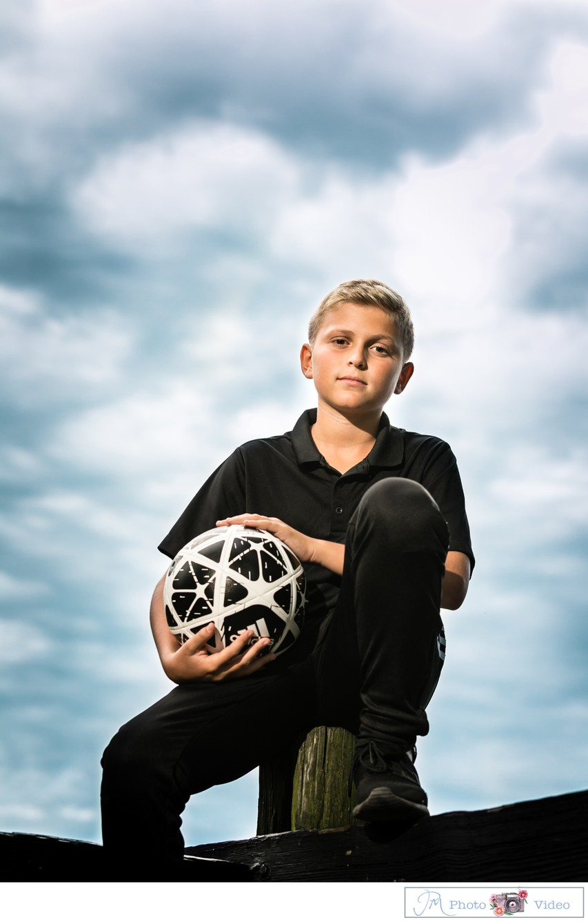 Soccer Themed Bar Mitzvah Portraits - Long Island NY