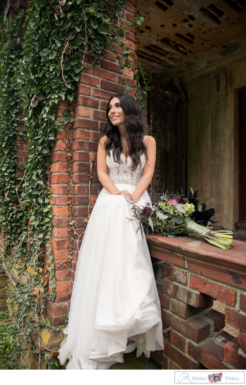 Bride Portrait at Chateau at Coindre Hall