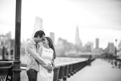 NYC Skyline Engagement Photos from Hoboken
