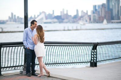 Pier 13 Hoboken Engagement Photos
