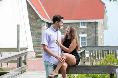 Fire Island Lighthouse Proposal Photographer