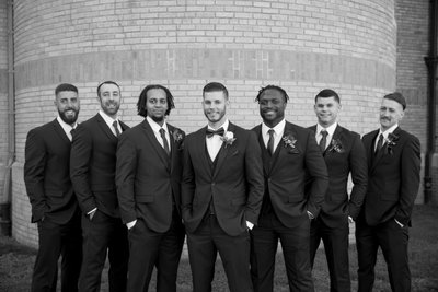Wedding Ceremony at St. Patrick's Church - Groomsmen