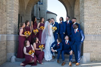 Long Island Bridal Party Wedding Photos