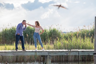 Great South Bay Engagement Photos