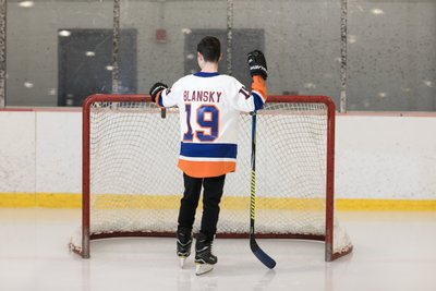 Hockey themed Bar Mitzvah photo shoot