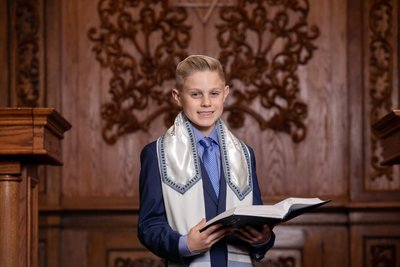 Temple Chaverim Plainview Bar Mitzvah portrait photographer
