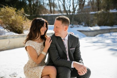 Long Island Winter Engagement Photos
