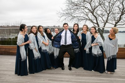 Fun Bridal Party Photos at Harbor Club at Prime