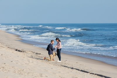 Sagaponack NY proposal and engagement photography