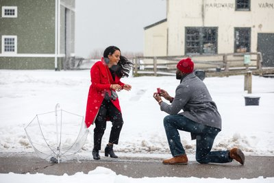 Long Island Proposal in the Snow