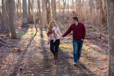 Long Island fall engagement session