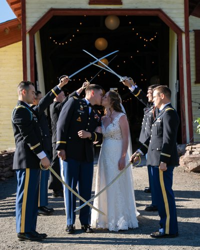 Long Island Military Wedding Photographer - Barn Venue