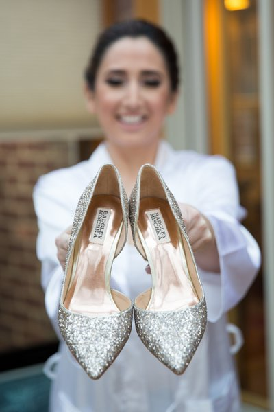 Garden City Hotel - Badgley Mischka Wedding Shoes