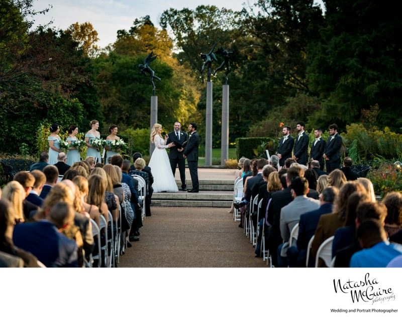 Ceremony in the Rose Garden at Missouri Botanical Gardens