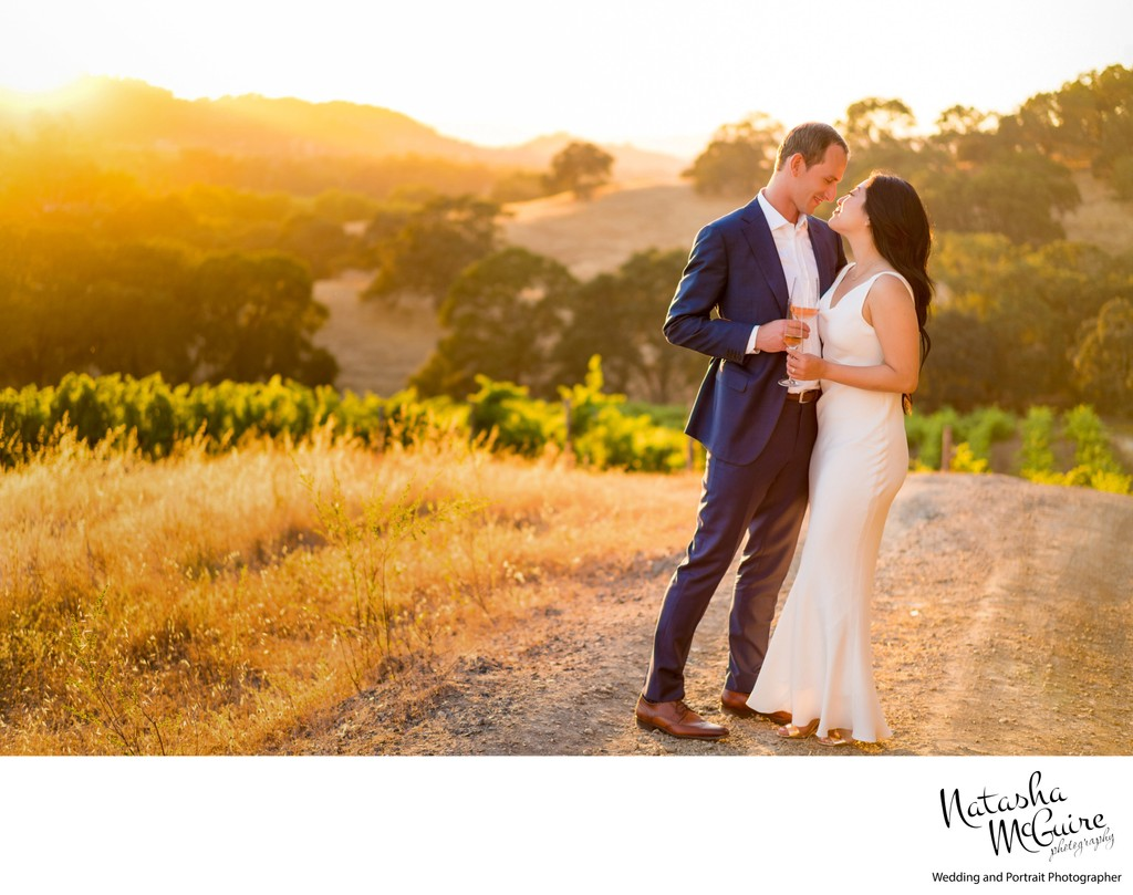 vineyard groom and bride