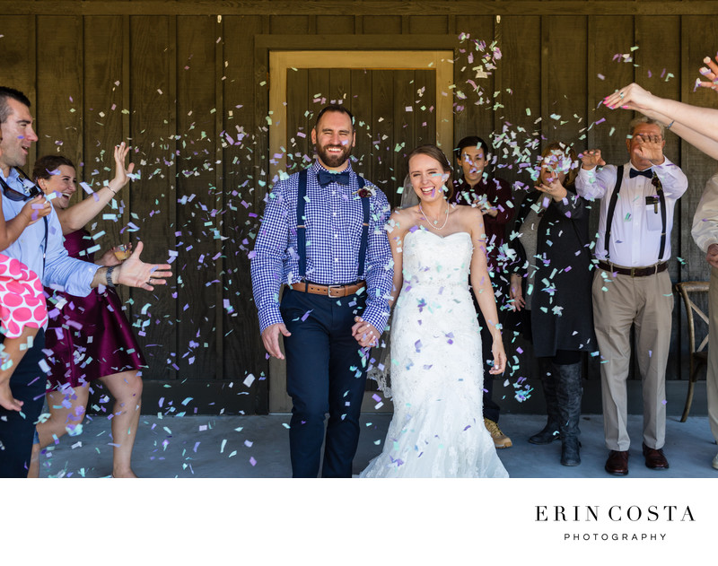 Confetti Wedding Exit Photos
