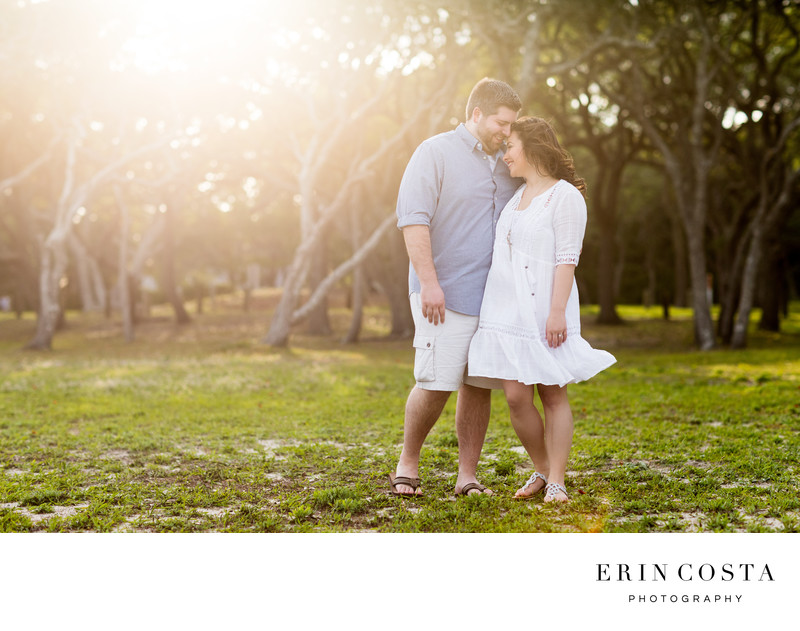 Romantic Fort Fisher Engagement Photos