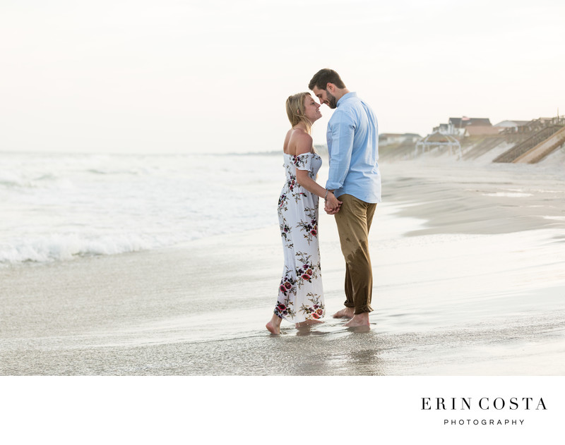 Sunset Engagement Session Topsail Beach