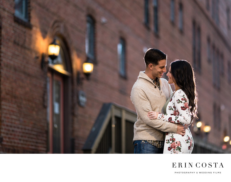 Downtown Wilmington Winter Engagement Photos
