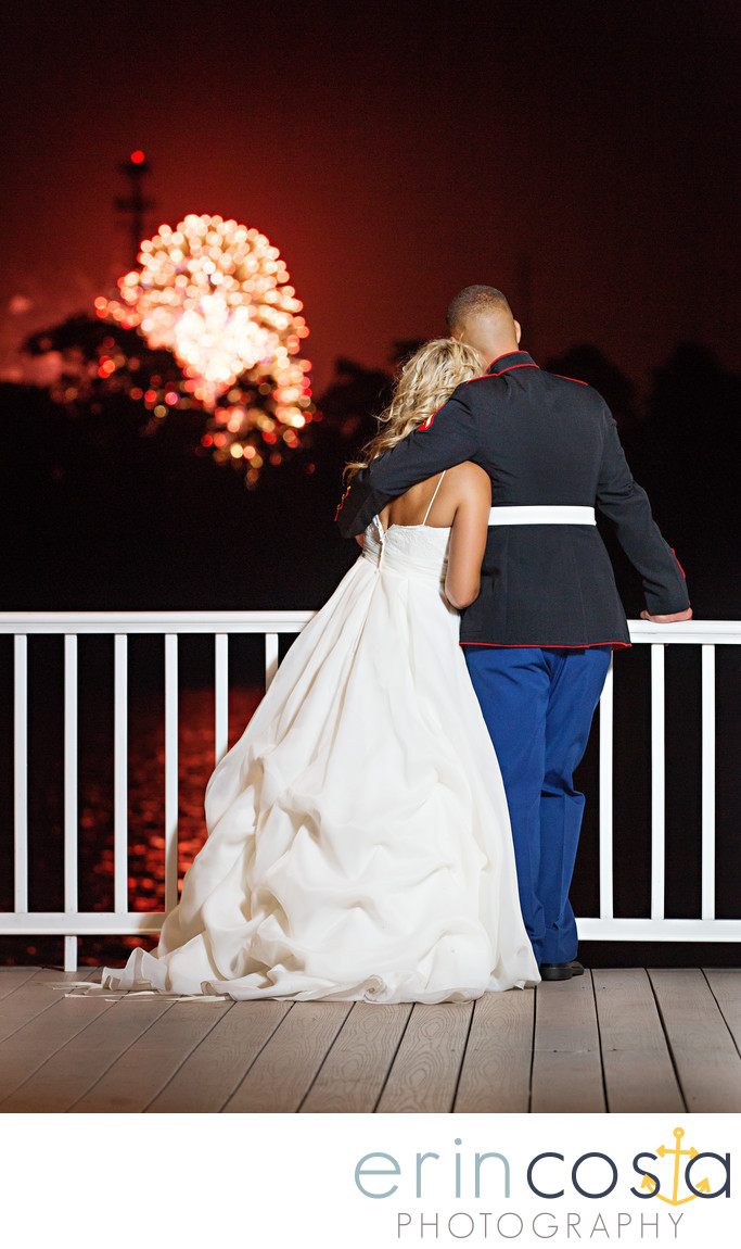 July 4th wedding at Marston Pavilion