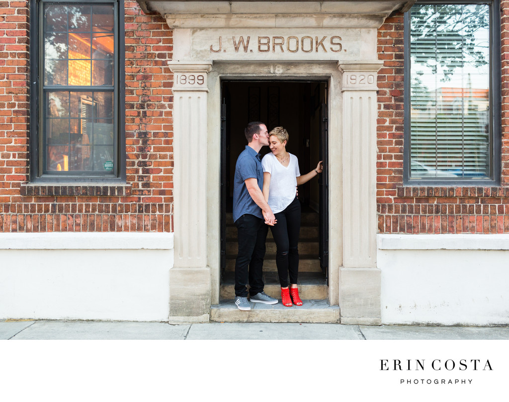 Engagement Photos Downtown Wilmington NC