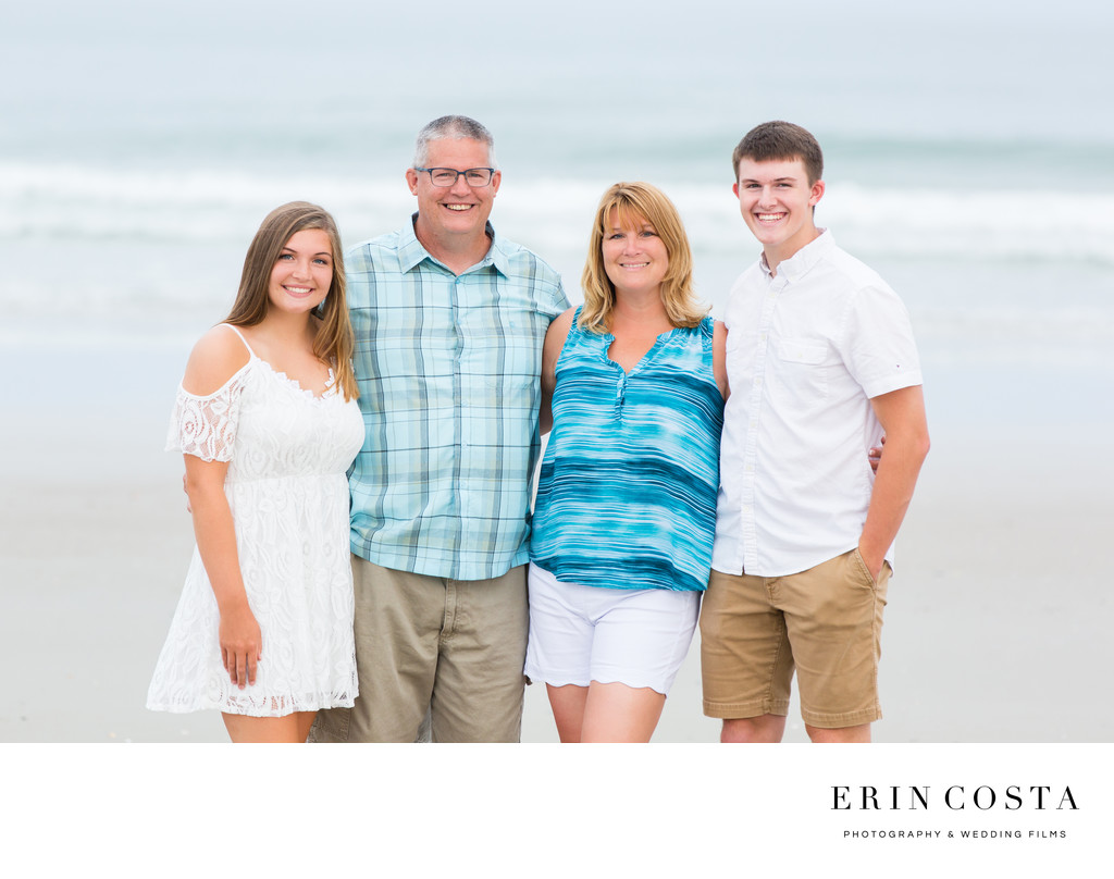 Bold Bright Topsail Beach Family Portraits