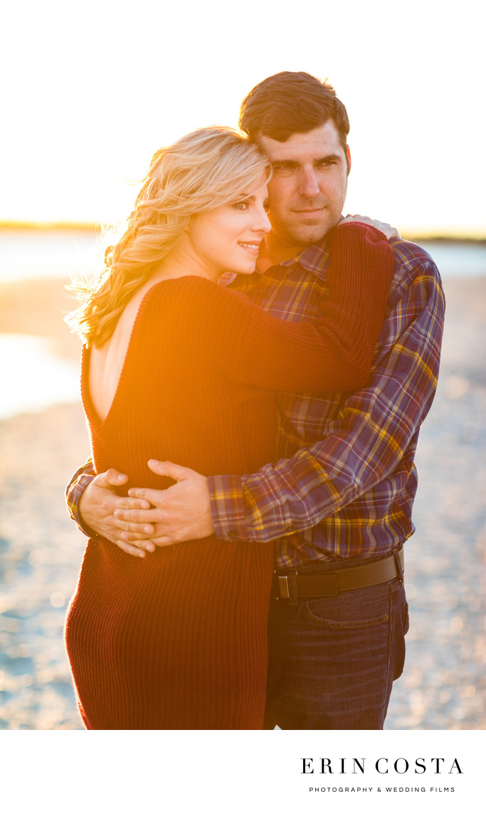 Wrightsville Beach Sunset Engagement Photos