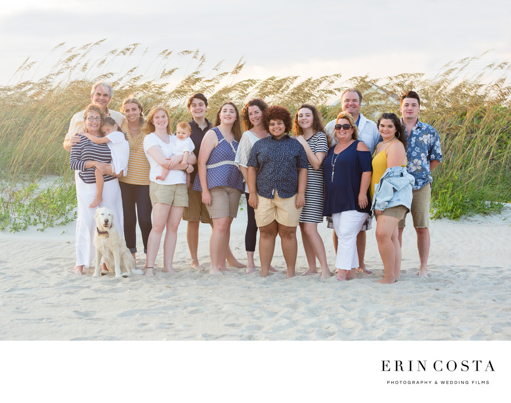 Extended Family Portraits Topsail Beach