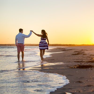 Wrightsville Beach Sunset Engagement Pictures