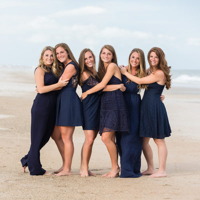 Sisters Portraits Topsail Beach