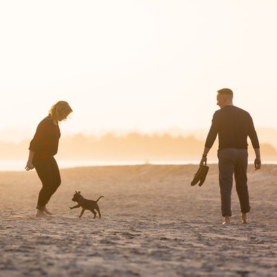 Puppy Engagement Photos Wrightsville Beach