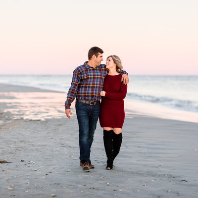 Fall Engagement Photos at Wrightsville Beach