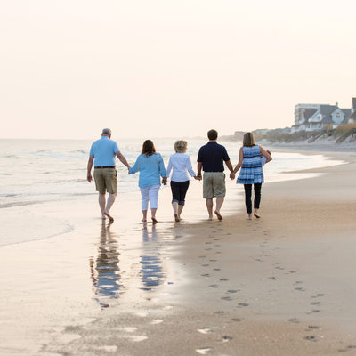 Sunset Family Portraits Topsail Island