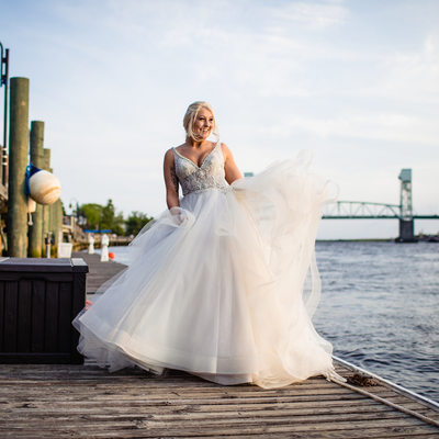 Downtown Wilmington Bridal Photos