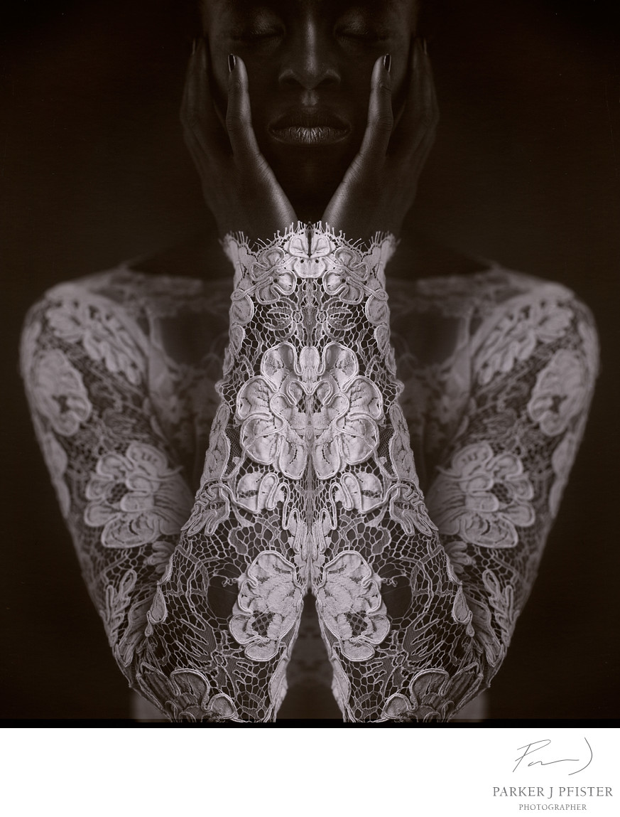 mirrored lace
