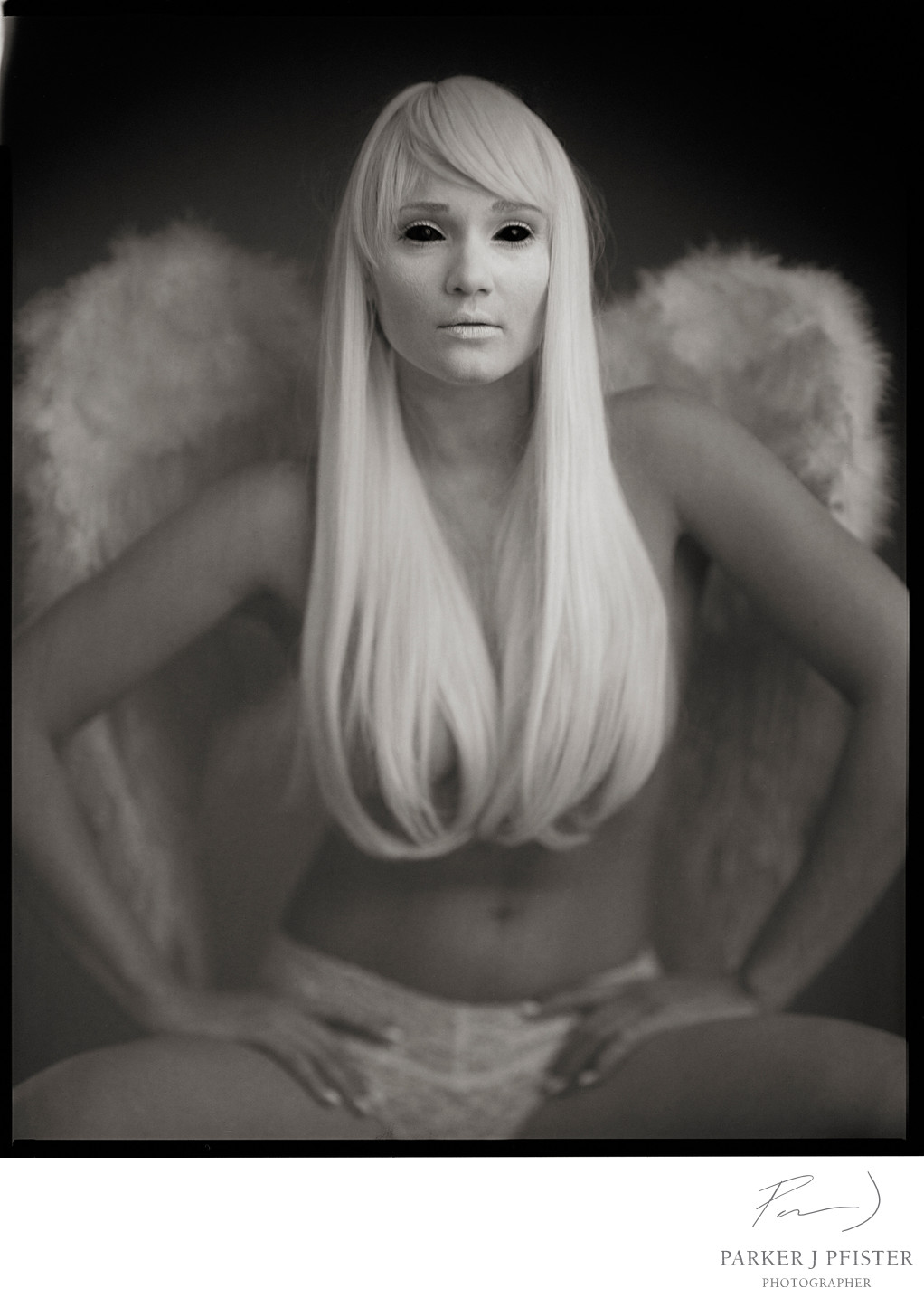 dark white angel