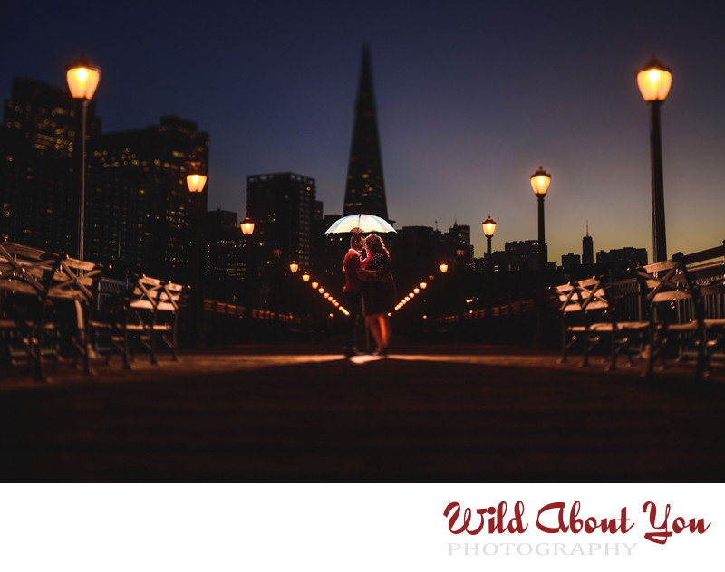 san francisco night engagement photography