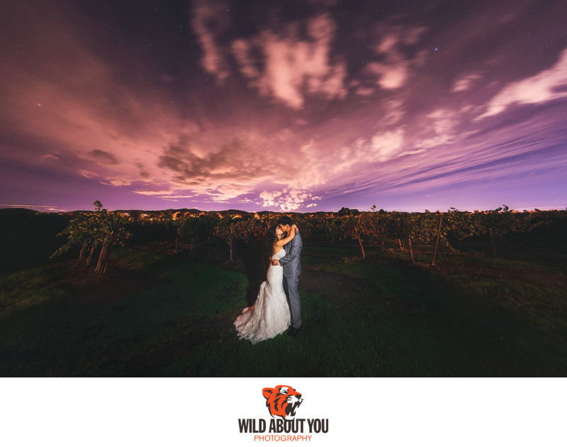 epic vineyard wedding photography