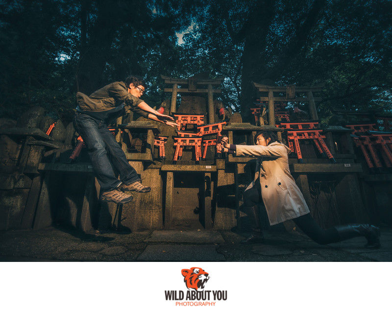 epic kyoto engagement photography