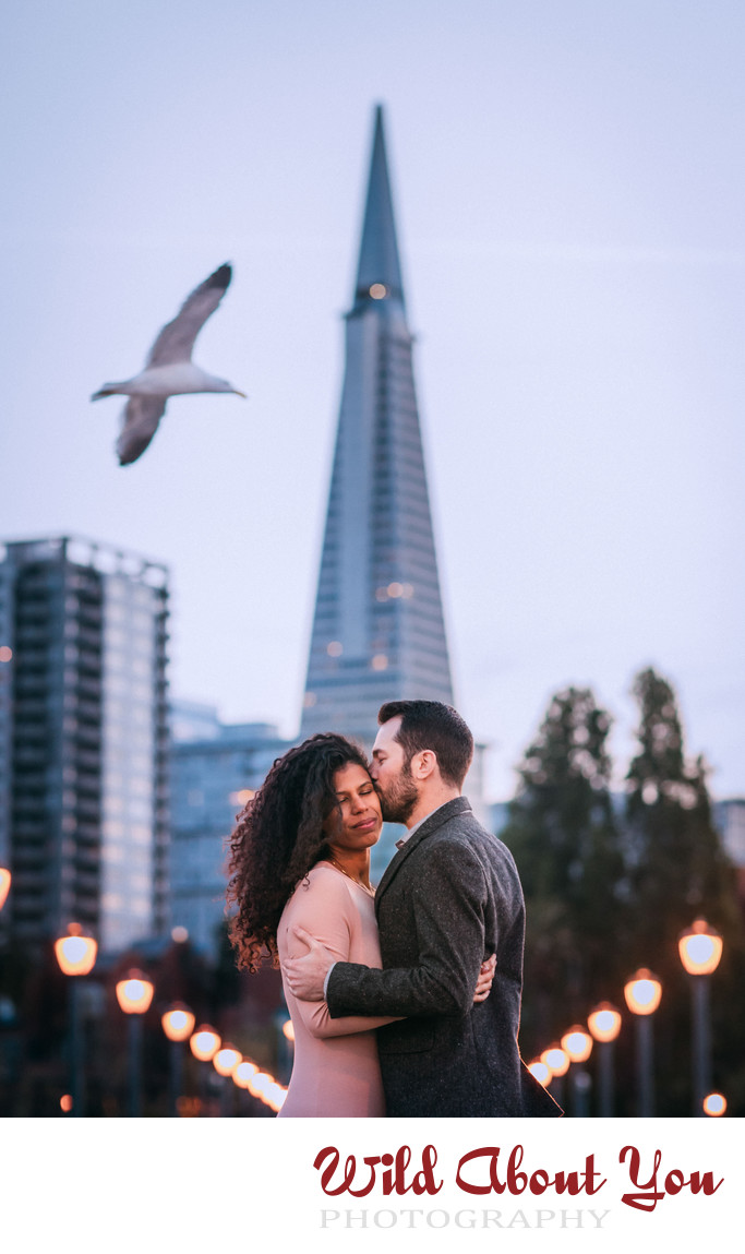 romantic san francisco bay area engagement photography