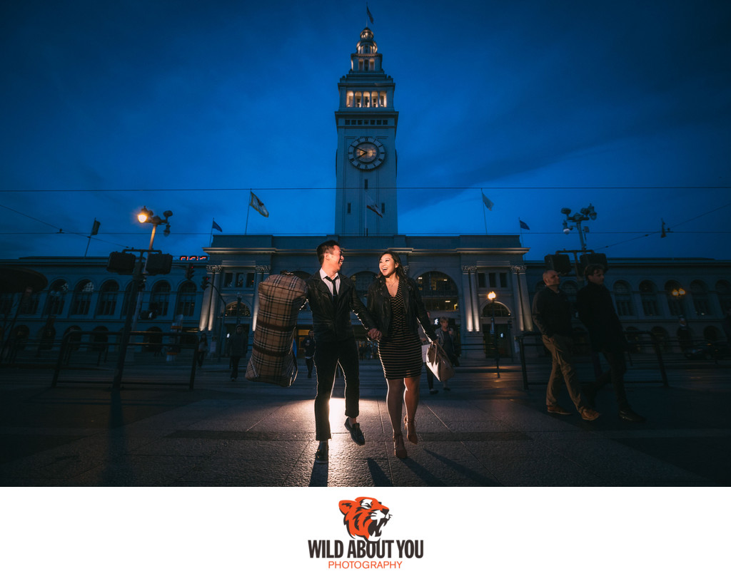 san francisco ferry building engagement photography