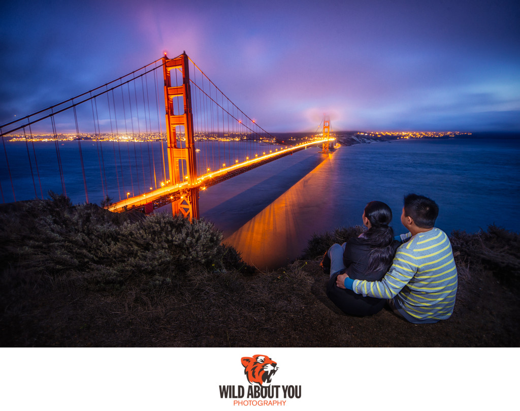 dramatic san francisco engagement photographer