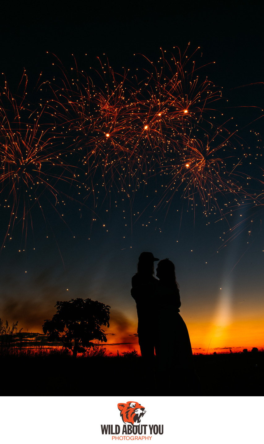 wedding fireworks photography