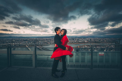 dramatic osaka engagement photographer