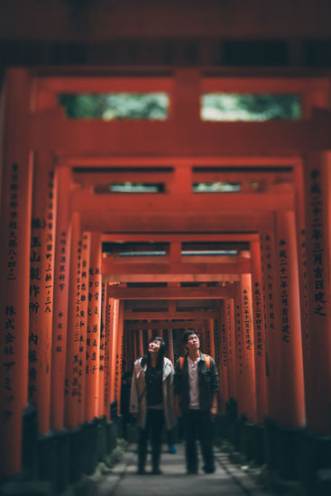 fun japan engagement photographer