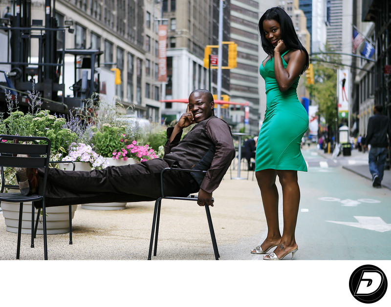 7th Avenue NYC Engagement Photographer