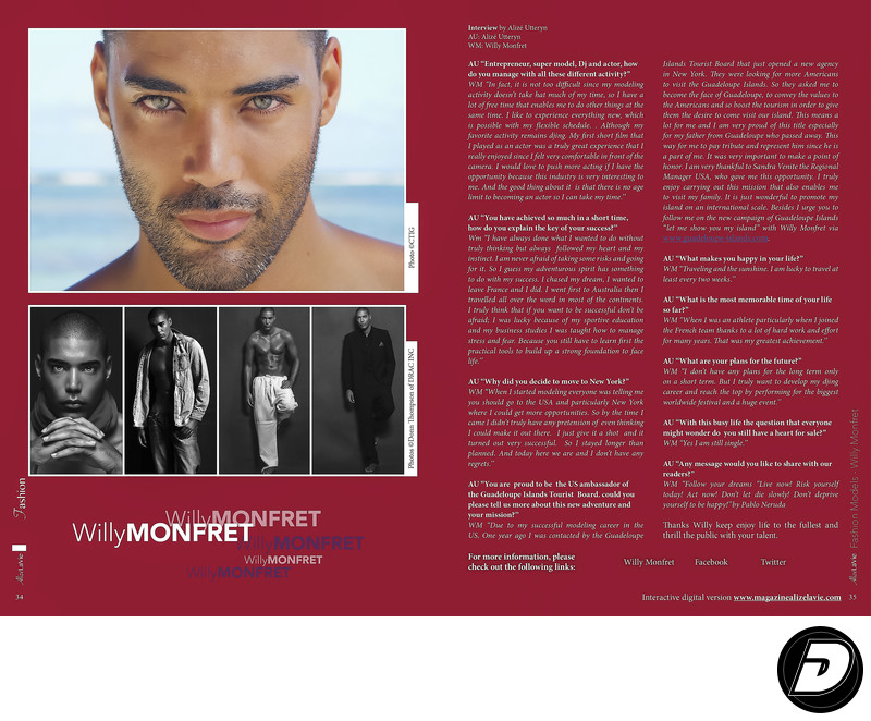 DJ Willy Monfret Alize La Vie magazine Photographer