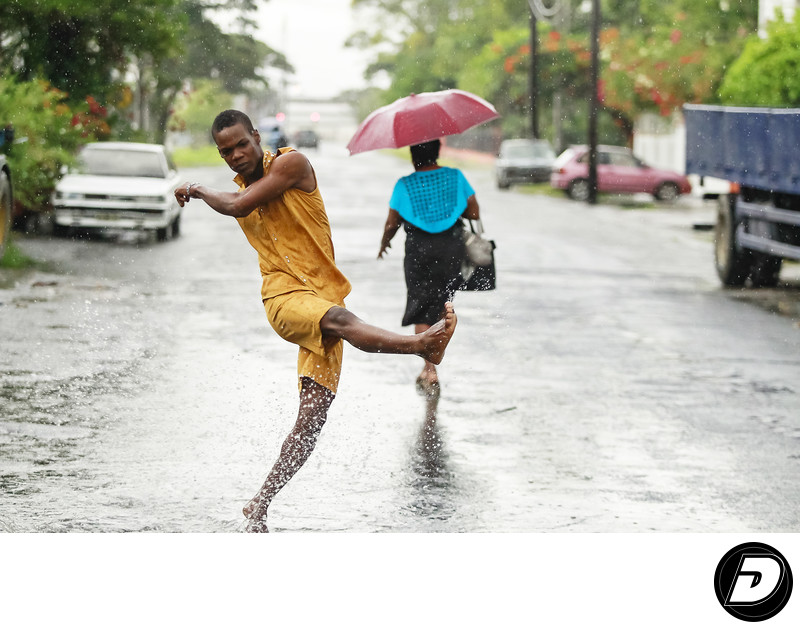 Guyana's Middle Street Rain Fashion Photographer