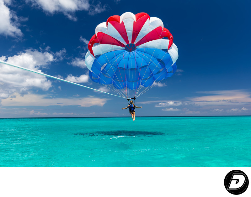 Cabbage Beach Parasailing Photo