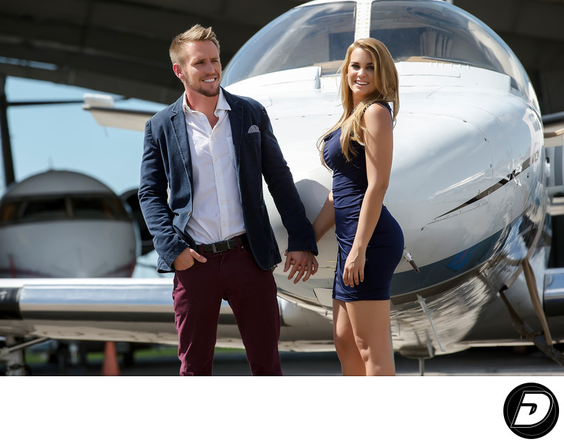 Jet Aviation Nassau Couple Lifestyle Photographer